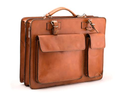 Product photograph of Carters leather briefcase