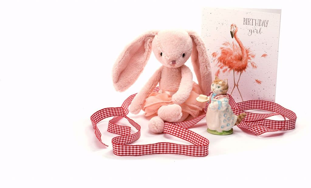 product photography of toys -pink bunny