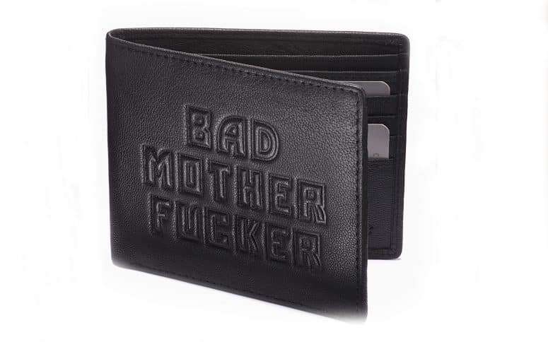 product photography of leather-black wallet cover