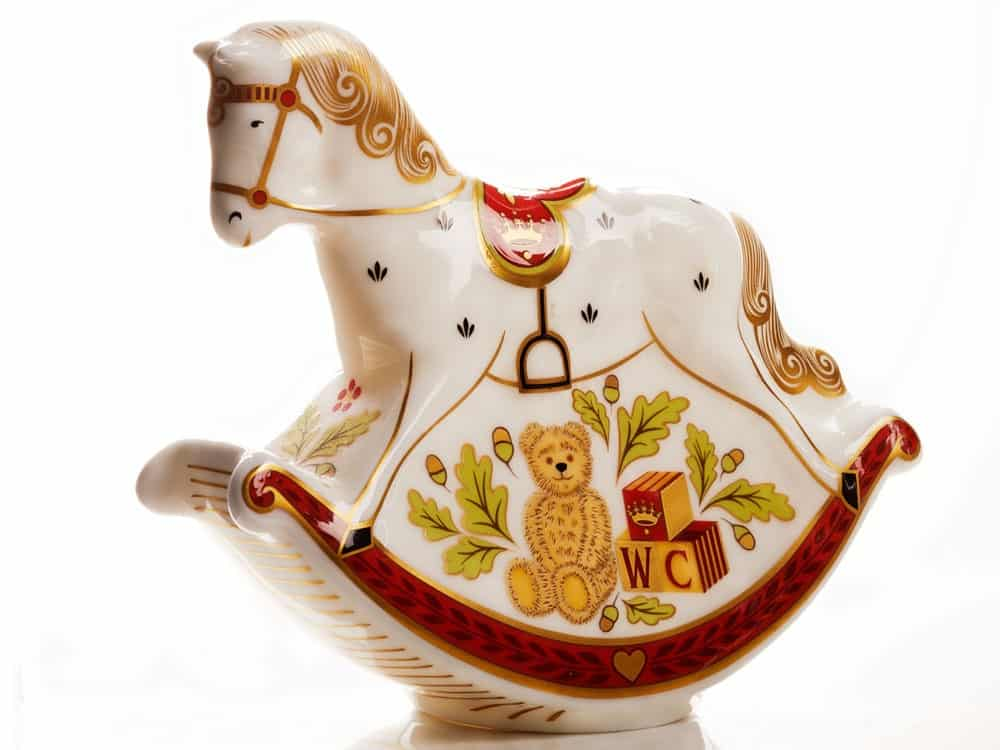 Royal Crown Derby -Royal Baby Rocking Horse