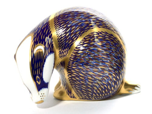 carters product photography royal crown derby badger