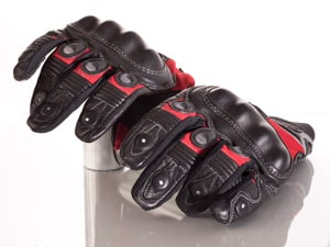 Carters product photography- leather motorcycle gloves