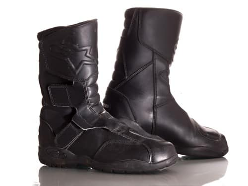 Carters Product shot of motorcycle boots